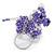 Purple/ Transparent Glass Bead Scottie Dog Keyring/ Bag Charm - 8cm L