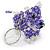 Purple/ Transparent Glass Bead Scottie Dog Keyring/ Bag Charm - 8cm L - view 5