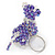 Purple/ Transparent Glass Bead Scottie Dog Keyring/ Bag Charm - 8cm L - view 6