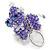 Purple/ Transparent Glass Bead Scottie Dog Keyring/ Bag Charm - 8cm L - view 2