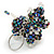 Peacock/ Transparent Glass Bead Scottie Dog Keyring/ Bag Charm - 8cm L - view 6