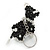 Black/ Transparent Glass Bead Scottie Dog Keyring/ Bag Charm - 8cm L - view 6