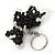 Black/ Transparent Glass Bead Scottie Dog Keyring/ Bag Charm - 8cm L - view 3