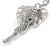 Clear Crystal Elephant Head Keyring/ Bag Charm In Silver Tone - 15cm L - view 3
