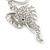 Clear Crystal Elephant Head Keyring/ Bag Charm In Silver Tone - 15cm L - view 4
