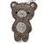 Grey/ Clear Crystal Baby Bear Keyring/ Bag Charm In Silver Tone Metal - 13cm L - view 2