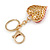 Hot Red Crystal Puffed Heart Keyring/ Bag Charm In Gold Tone Metal  - 8cm L - view 4