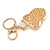 Multicoloured Crystal Owl Keyring/ Bag Charm In Gold Tone - 10cm L - view 4