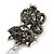 Hematite Crystal Kitty Keyring/ Bag Charm In Silver Tone - 11cm L - view 9