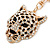 Statement Crystal Tiger Keyring/ Bag Charm In Gold Tone - 11cm L - view 3