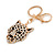 Statement Crystal Tiger Keyring/ Bag Charm In Gold Tone - 11cm L - view 4