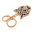 Statement Crystal Tiger Keyring/ Bag Charm In Gold Tone - 11cm L - view 5