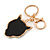 Statement Crystal Tiger Keyring/ Bag Charm In Gold Tone - 11cm L - view 6