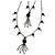 Black Long Double Tassel Fashion Necklace - view 3
