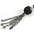 Black Long Double Tassel Fashion Necklace - view 5