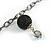 Black Long Double Tassel Fashion Necklace - view 6