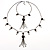 Black Long Double Tassel Fashion Necklace - view 11