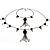 Black Long Double Tassel Fashion Necklace - view 8