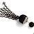 Black Long Double Tassel Fashion Necklace - view 9