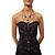 Black Long Double Tassel Fashion Necklace - view 2