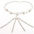 Silver Tassel Imitation Pearl Costume Necklace
