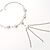 Silver Tassel Imitation Pearl Costume Necklace - view 2