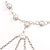 Silver Tassel Imitation Pearl Costume Necklace - view 3