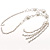 Silver Tassel Imitation Pearl Costume Necklace - view 4
