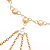 Gold Long Tassel Imitation Pearl Costume Necklace - view 4