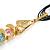 Rainbow Fish Cotton Cord Pendant Necklace (Gold Tone) - view 4