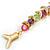 Rainbow Fish Cotton Cord Pendant Necklace (Gold Tone) - view 5