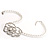 Open Rose Design Imitation Pearl Necklace - view 3