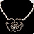 Open Rose Design Imitation Pearl Necklace - view 4