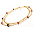 Long Statement Double Strand Necklace In Gold Plated Metal - 100cm L - view 2