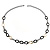 Long Black Large Twisted Oval Link Fashion Necklace - view 5