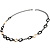 Long Black Large Twisted Oval Link Fashion Necklace - view 10