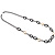 Long Black Large Twisted Oval Link Fashion Necklace - view 4