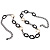 Long Black Large Twisted Oval Link Fashion Necklace - view 1