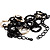 Long Black Large Twisted Oval Link Fashion Necklace - view 7