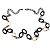 Long Black Large Twisted Oval Link Fashion Necklace - view 8
