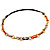 Long Leather Cord Oval Link Perspex Fashion Necklace - view 15