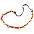 Long Leather Cord Oval Link Perspex Fashion Necklace - view 11