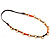 Long Leather Cord Oval Link Perspex Fashion Necklace - view 13