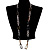 Long Oval Link Perspex Fashion Necklace - view 2