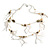 Romantic Long Multi Wooden & Metal Beads Silver Tone Chain Fashion Necklace  - view 3