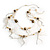 Romantic Long Multi Wooden & Metal Beads Silver Tone Chain Fashion Necklace