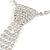 Clear Austrian Crystal Heart Tie Necklace - 32cm L/ 12cm Ext/ 17cm Tie - view 6