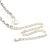 Clear Austrian Crystal Heart Tie Necklace - 32cm L/ 12cm Ext/ 17cm Tie - view 7