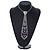 Clear Austrian Crystal Heart Tie Necklace - 32cm L/ 12cm Ext/ 17cm Tie - view 2