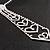 Clear Austrian Crystal Heart Tie Necklace - 32cm L/ 12cm Ext/ 17cm Tie - view 12
